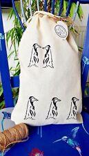 NEW 100% Cotton Stuff-Bag - Hand Printed on both sides - Birds