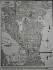 Nice Vintage 1944 World War WWII Atlas City Map Seattle, WA Washington OLD L@@K!
