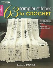 63 Sampler Stitches to Crochet Afghan Instruction Patterns Book Darla Sims NEW