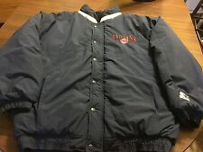 CLEVELAND INDIANS  MLB SEWN  FULL ZIP UP AND SNAP COAT BY STARTER MEN'S LARGE