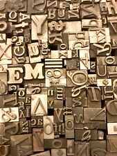 Lot of 50 Vintage Letterpress Letters Lead Metal Printing Type