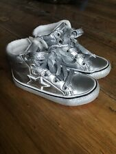 Next Girls Silver Ankle Boots Size 7