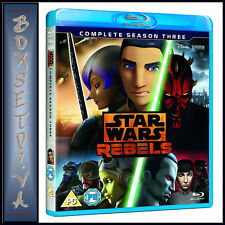 Star Wars Rebels Complete Season 3 Series Three Third Reg B Blu-ray
