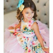 Chasing Fireflies Girls Pink Tulle Party Dress Size 5 Nwot