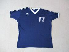 Vintage Umbro Soccer Jersey Adult Extra Large Blue White Lightweight Futbol Mens