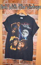 VINTAGE Teen Wolf Howling Black T shirt  Tee Tshirt 90s Rock Official Movie RARE