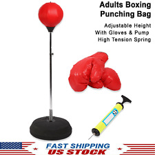 Adults Adjustable Boxing Punching Bag Free Standing Training Kickboxing Mma