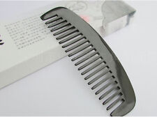 15CM Unisex Natural Black Ox Horn Wide-toothed Massage Health Care Comb