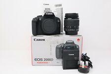 Canon EOS 2000D 24.1 MP DSLR Camera (3,043 Shots Taken) w/18-55mm IS II Lens+Box