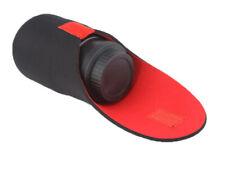 Pequeña cámara caso bolsa de neopreno suave Protector Para Cámara Con Lentes-Reino Unido Vendedor