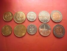 SERIE RUANDA RWANDA 2007-2011 (5,10,20,50 y 100  Francos) SIN CIRCULAR / UNC