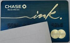 Expired Chase Bank Business Ink MasterCard World Elite Blue Credit Card