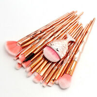 21PCS Unicorn Makeup Brushes Set Powder Foundation Eyeshadow Eyebrow Brush Tool