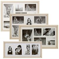 MDF Wood Rectangular Large Multi Pictures Photo Frame Wall Hanging Collage Decor