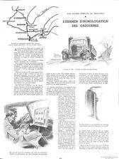 Examen d'Homologation des Gazogène de Camion camionnette WWII 1941 ILLUSTRATION