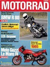 M8501 + Test BMW R 80 + Fahrbericht MOTO GUZZI Le Mans IV + MOTORRAD 1/1985