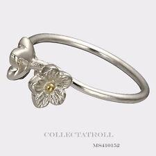 Authentic TrollBeads Sterling Silver Elderflowers Ring Size 58
