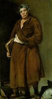 Art Oil painting Diego Velazquez - Elder man portrait aesop holding book canvas