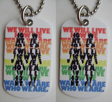 Rainbow Gay Pride We Will Live 2-Sided Color Photo Dog Tag Necklace / Keychain