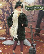 """COAT~HAT~SCARF""~Crochet PATTERN~PATTERN ONLY fits BARBIE FASHION DOLL"