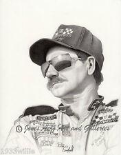 Legendary NASCAR Driver Dale Earnhardt Sr. Giclee Art Prints by Willie Jones Jr.
