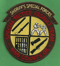 BIBB COUNTY GEORGIA SHERIFF SWAT ASSAULT TEAM PATCH