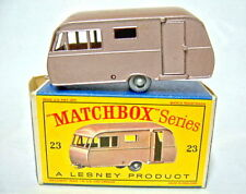 "Matchbox 23C Bluebird Caravan silberne Räder top ""D"" Box"