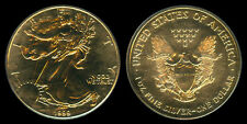 1999 US Walking Liberty Dollar 24k Gold Plated Silver Coin 1 Troy OZ