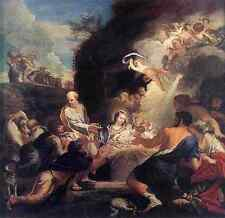 Maratti CARLO ADORATION OF THE SHEPHERDS stampa in A4