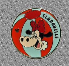 Clarabelle Beach Ball Pin - DISNEY Cast Lanyard Pin - Disneyland Series 4