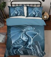 3D Silver Dragon P73 Bed Pillowcases Quilt Duvet Cover Vincent Zoe
