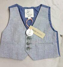 3 - 6 mths River Island mini 'Rumblefish Boys' grey & blue waistcoat NWT