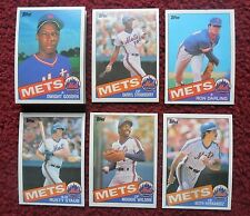 1985 Topps New York Mets Baseball Team Set (33 Cards) ~ Dwight Gooden RC ++
