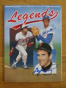 1991 Legends Sports Memorabilia FERGIE JENKINS and GAYLORD PERRY signed Magazine