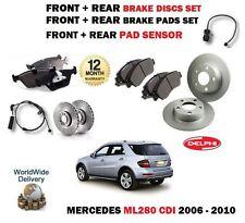 Pour mercedes ML280 cdi 2006-2010 avant + arrière disque de frein set + plaquettes kit + capteur