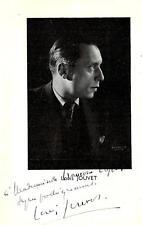LOUIS JOUVET - ENVOI AUTOGRAPHE- 1939 - programme Athénée /théâtre Louis jouvet