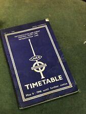 More details for lner & london underground 1946 timetable