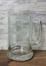 New listing Columbus Ship Voyage Beer Clear Glass Stein Mug White Etched
