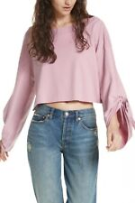 Free People Womens Holala OB714997 Sweatshirt Relaxed Rose Pink Size XS