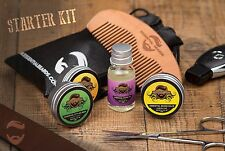 Essential Beards Grooming Kit - CHOOSE SCENTS 7pc set, 2 Beard Balm & Oil, Comb