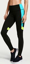 Victorias Secret VSX Sport Knockout Tight PANTS LARGE SHORT BLUE COLORBLOCK -NWT