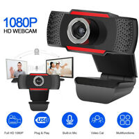 1080P Webcam HD Cam Auto Focus Web Camera with Microphone For PC Laptop Desktop