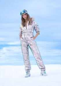 Club Exx Aurora Bean Holographic Snow Suit M Medium Dolls Kill