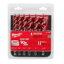 "Milwaukee 48-13-0600 6-1/2"" SPEED FEED™ Wood Bit Set (6 PC)"
