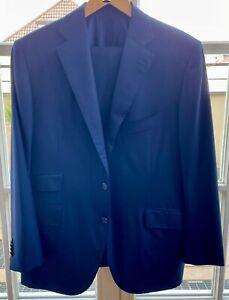 Kiton Napoli Herren Anzug Wolle Schwarz Gr. 52 Neuwertig
