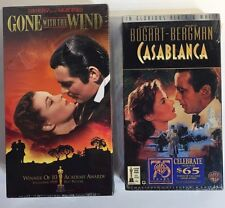 Gone With the Wind (VHS, 1939, 2-Tape Set,) + Casablanca  NEW & SEALED BOX