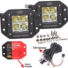 House Tuning Bumper Mount LED Cube Light Fog Lamp Wiring Harness Kit 20W DC 12V