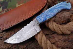 MH KNIVES CUSTOM HANDMADE DAMASCUS STEEL FULL TANG HUNTING/SKINNER KNIFE D-70