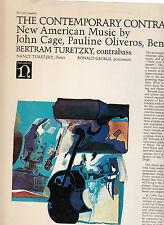 JOHN CAGE/OLIVEROS-THE CONTEMPORARY CONTRABASS-RARE LP-BERTRAM TURETZKY 1970-VG+