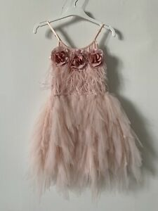 Tutu Du Monde Queen of Roses Dress Tutu party dress Marshmallow BNWT RRP $195USD
